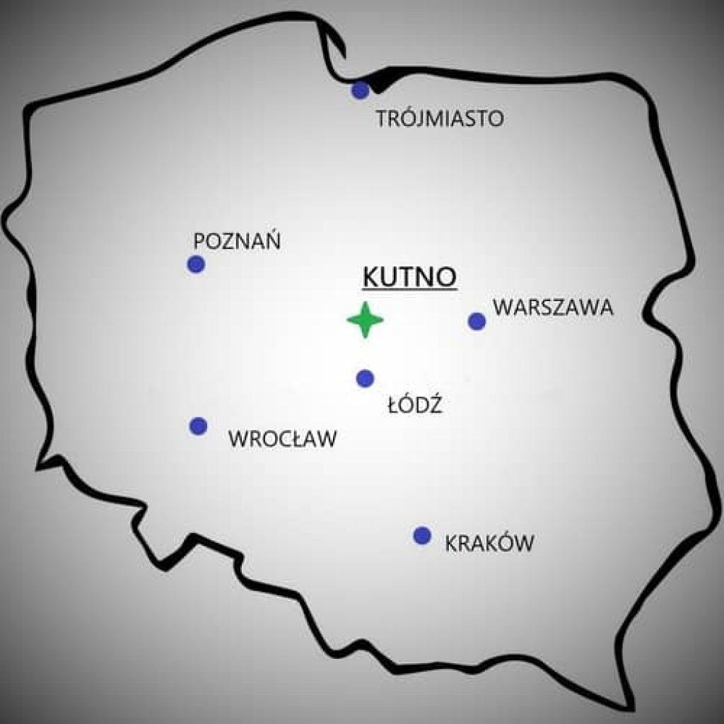 Mapa - Polska - Kutno